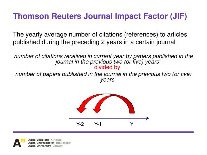 Thomson Reuters Journal Impact Factor (JIF)