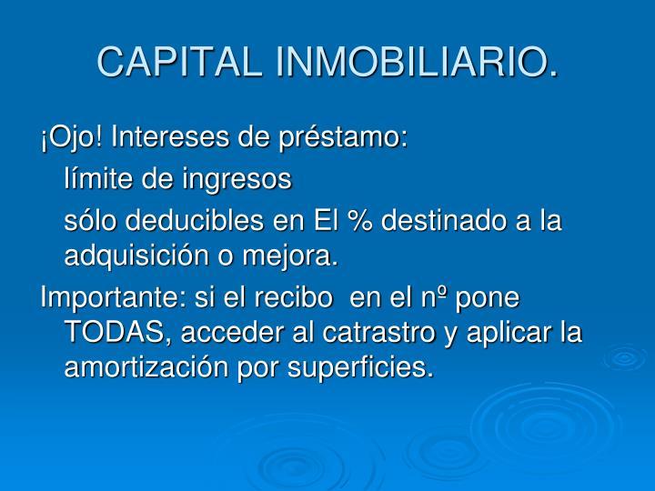 CAPITAL INMOBILIARIO.