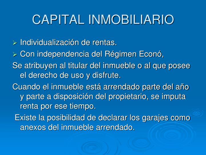 CAPITAL INMOBILIARIO