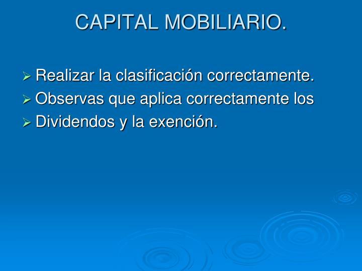 CAPITAL MOBILIARIO.