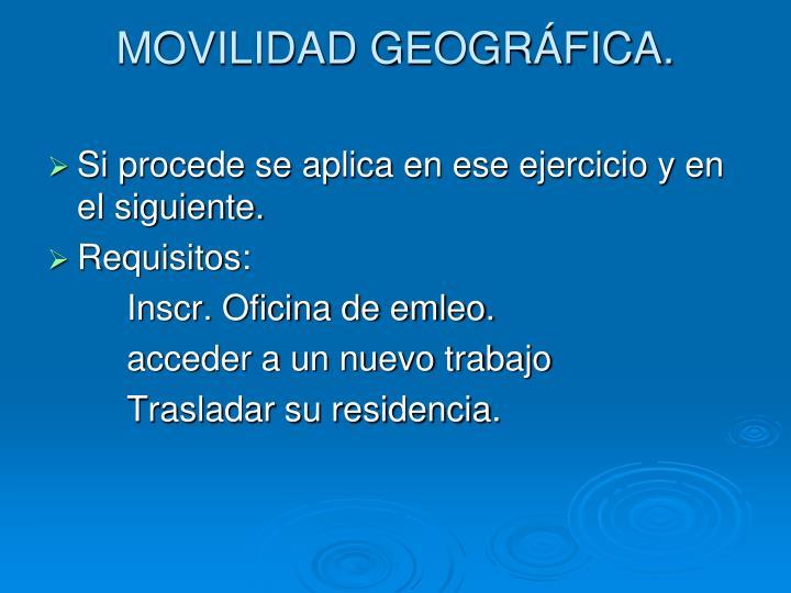 MOVILIDAD GEOGRÁFICA.