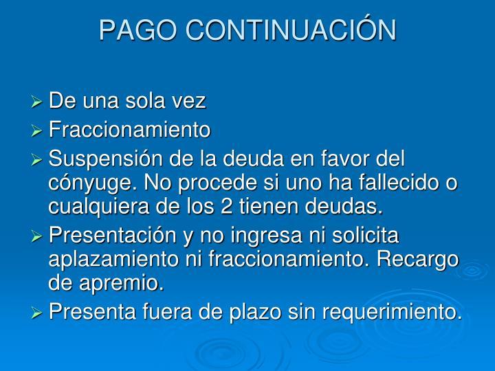 PAGO CONTINUACIÓN