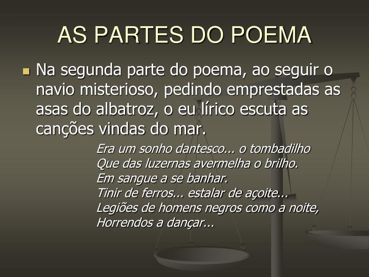 AS PARTES DO POEMA