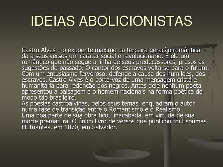 IDEIAS ABOLICIONISTAS