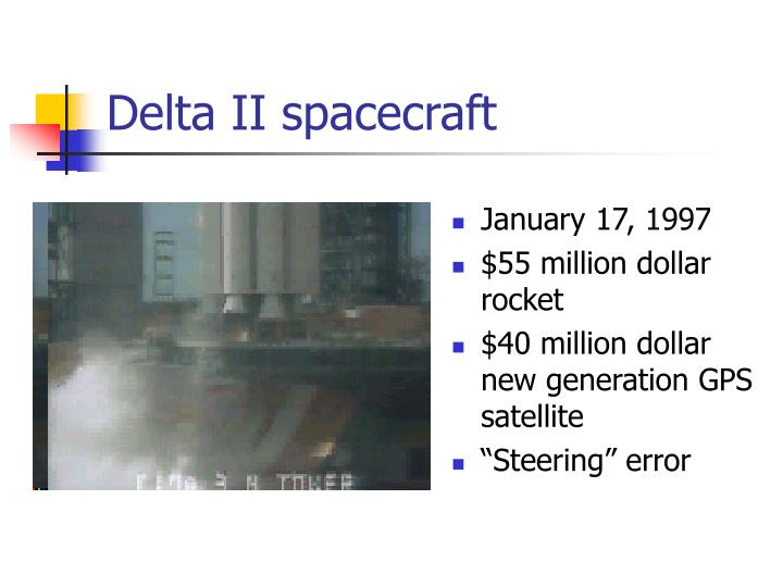 Delta II spacecraft