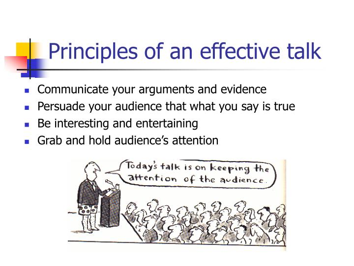 Principles of an effective talk