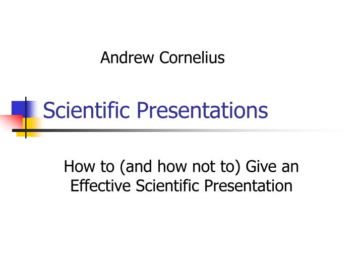 Scientific presentations