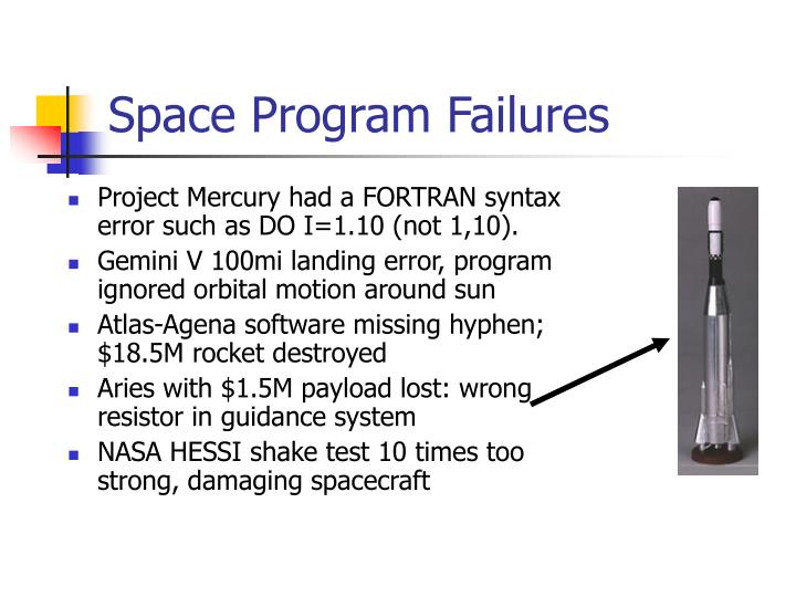 Space Program Failures