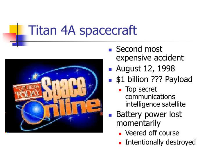 Titan 4A spacecraft