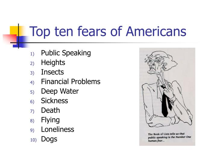 Top ten fears of americans