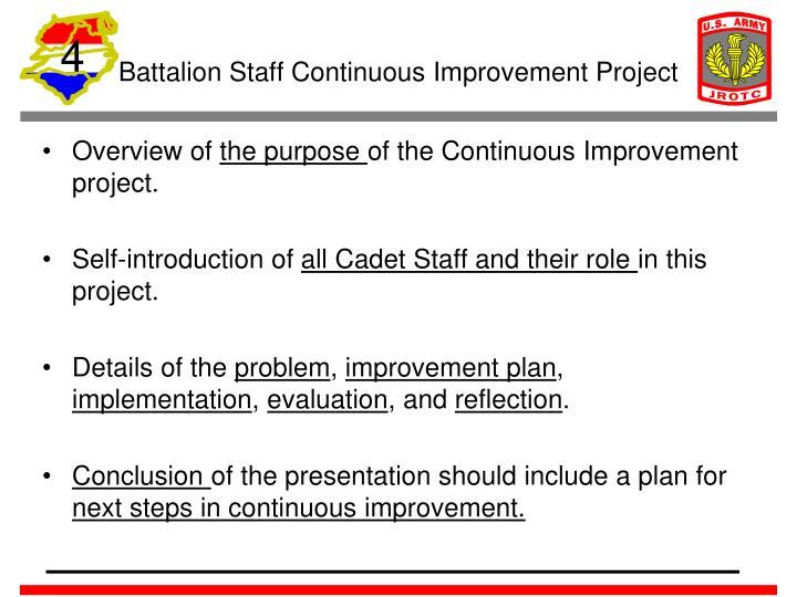 Battalion Staff Continuous Improvement Project