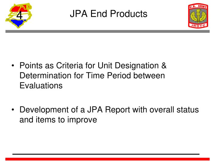JPA End Products