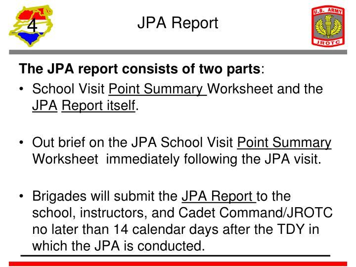 JPA Report