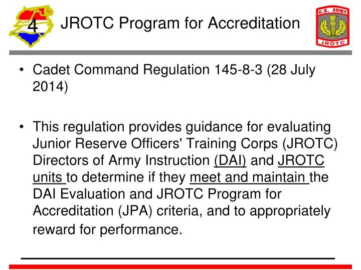 JROTC Program for Accreditation