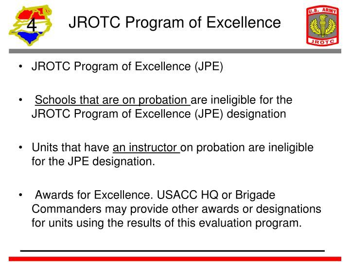 JROTC Program of Excellence