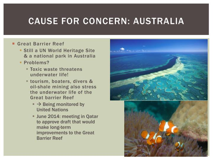 Cause for concern: Australia