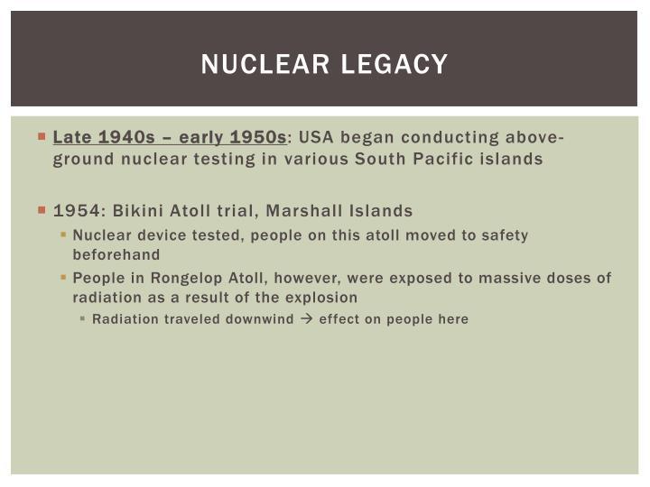 Nuclear Legacy