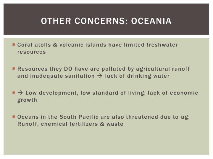 Other concerns: