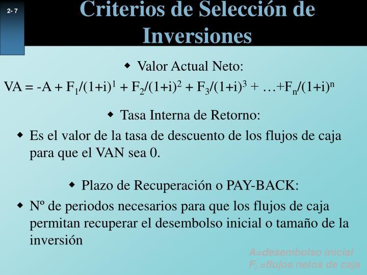 Valor Actual Neto: