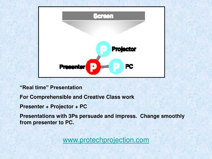 """Real time"" Presentation"