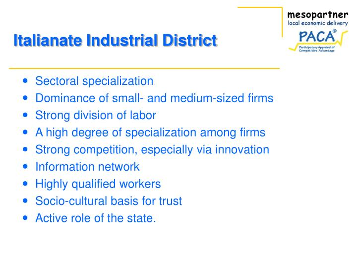 Sectoral specialization