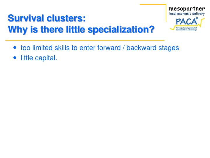 Survival clusters: