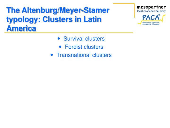 Survival clusters