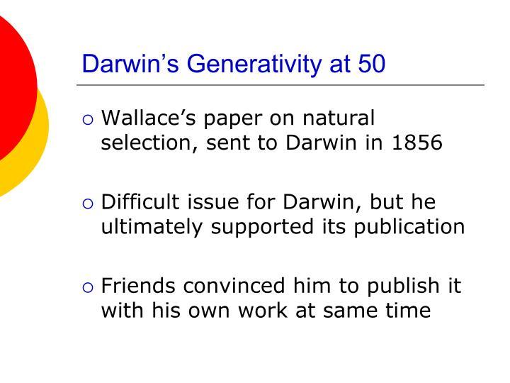 Darwin's Generativity at 50