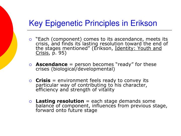 Key Epigenetic Principles in Erikson
