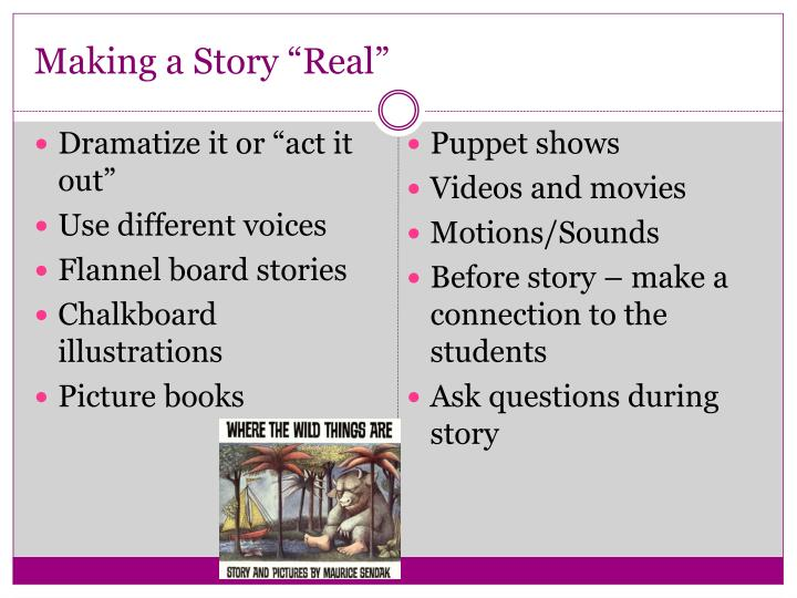 "Making a Story ""Real"""