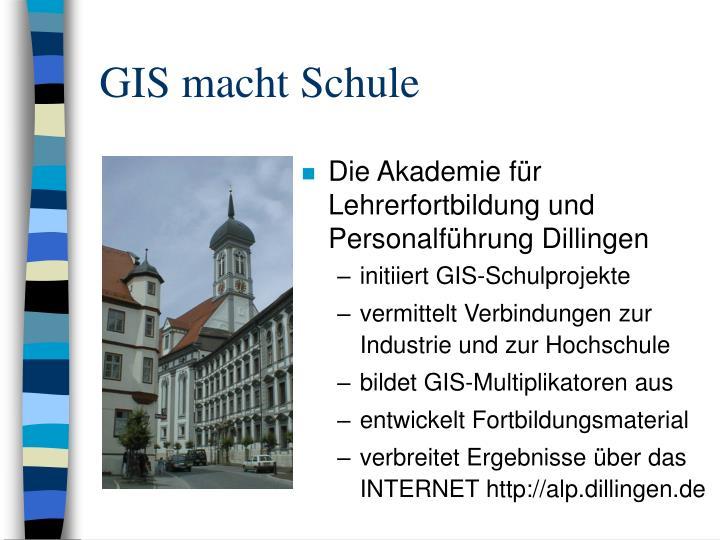 GIS macht Schule