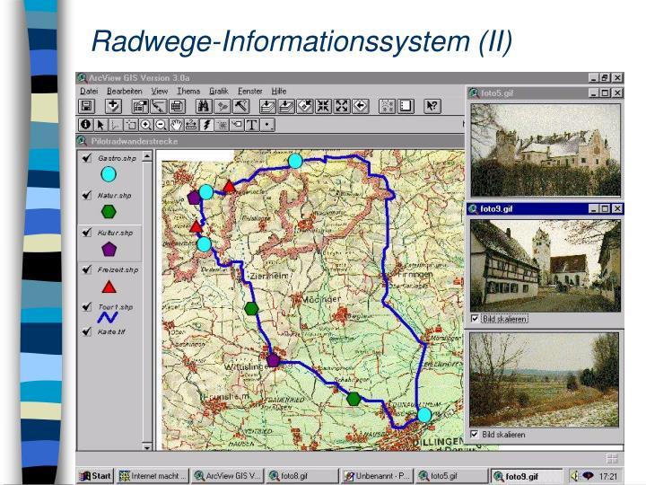 Radwege-Informationssystem (II)
