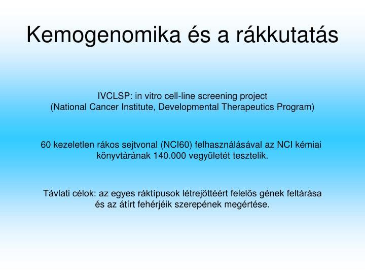 Kemogenomika és a rákkutatás