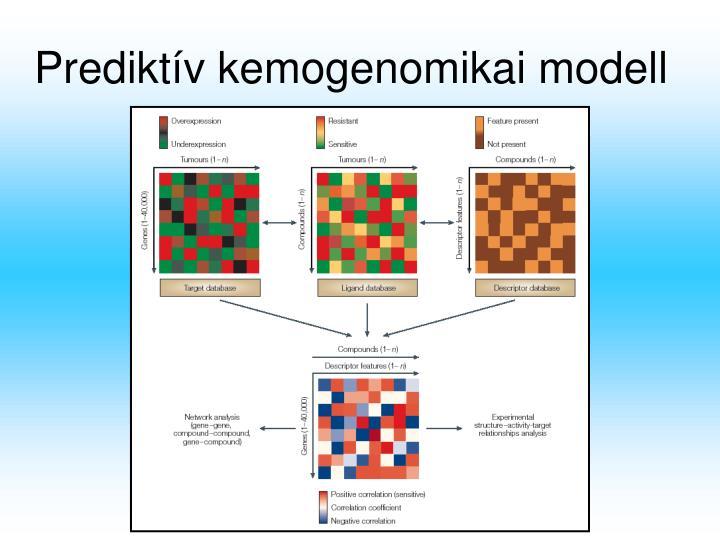 Prediktív kemogenomikai modell