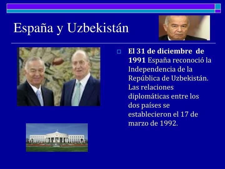 España y Uzbekistán