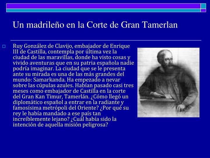 Un madrileño en la Corte de Gran Tamerlan