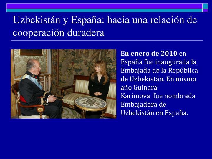 Uzbekistán y España: hacia una relación de cooperación duradera