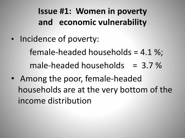 Issue #1:  Women
