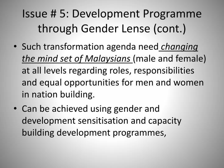Issue # 5: Development