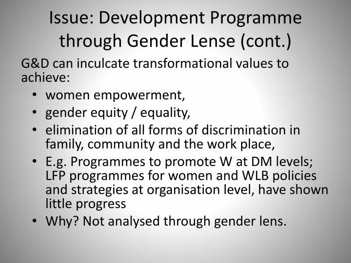 Issue: Development