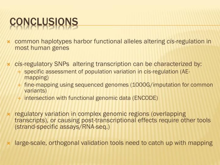 common haplotypes harbor functional alleles altering