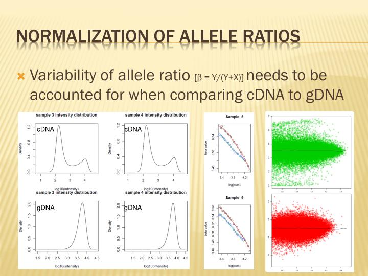 Variability of allele ratio