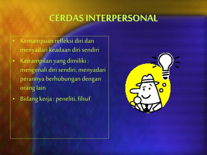 CERDAS INTERPERSONAL