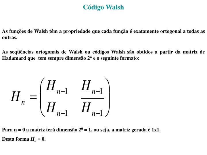Código Walsh