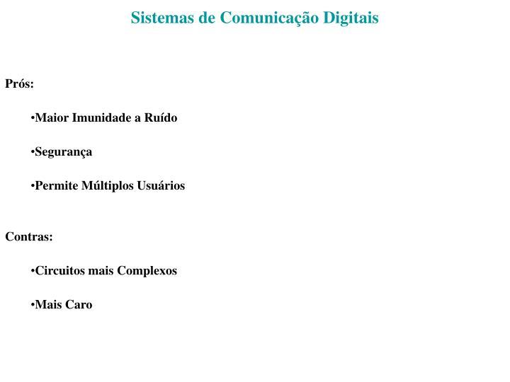 Sistemas de Comunicação Digitais