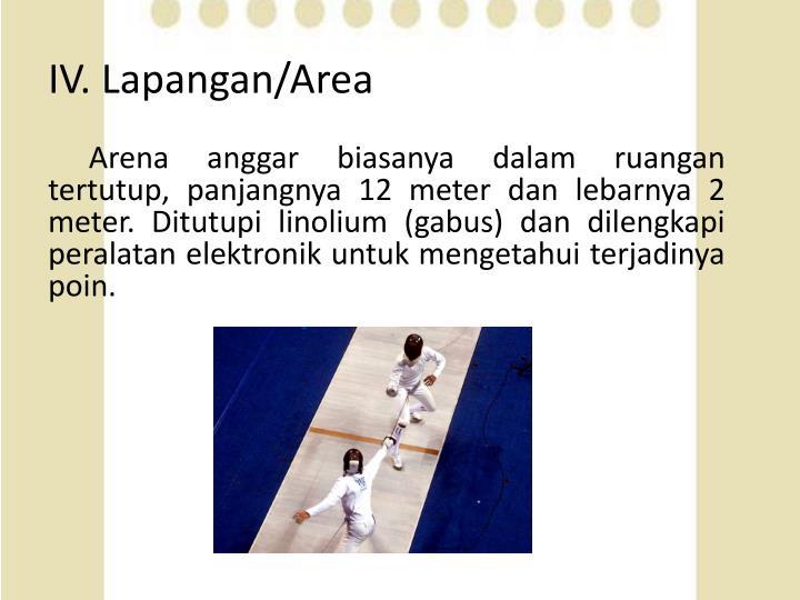 IV. Lapangan/Area