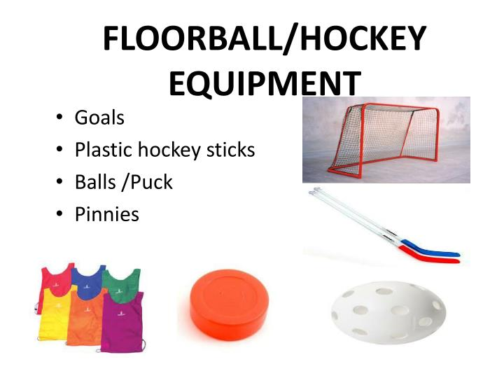 Floorball hockey equipment