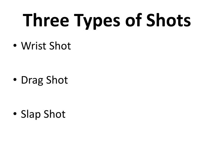Three Types of Shots