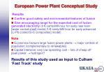 european power plant conceptual study