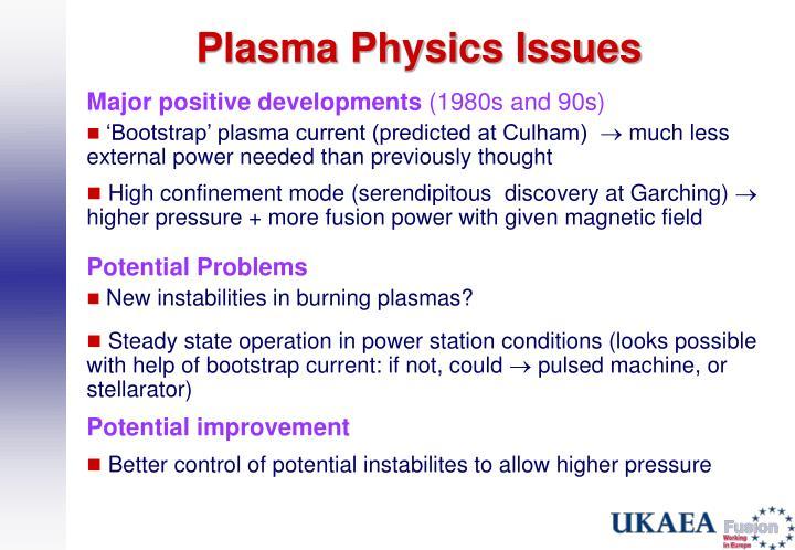Plasma Physics Issues